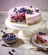 Frozen Blueberry-Lemon-Cheesecake